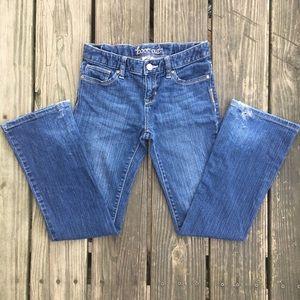 Girls boot cut denim jeans